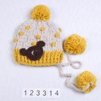 Best Kid's knitted hat, measures 25x21cm wholesale