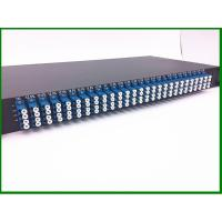 Best 12pcs 1*8  Fiber Optic PLC Splitter in  1U 19' Rack Mount with LU connector for FTTX CATV wholesale