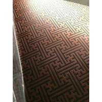 Best 304 Hairline Bronze Stainless Steel Plate Copper Plating Sheet Brass Color wholesale