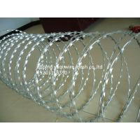Best BTO-22 Hot Dip Galvanized Razor Barbed Wire With 450mm Coil For Security Military Fence For Africa wholesale