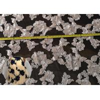 Best Fashion Chenille Embroidered Lace Fabric , Polyester Mesh Fabric For Dresses wholesale