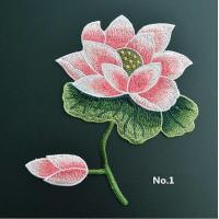 Best Large Embroidered Flower Patches , Sew On Embroidered Appliques On Lace Fabric wholesale