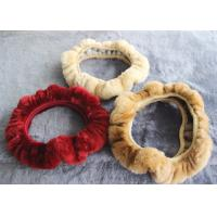 Best Cute Girly Car Steering Wheel Covers , Winter Real Fur Steering Wheel Cover  wholesale