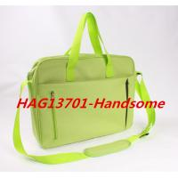 Best Cheap Promotional Office Document Bag Green Briefcase with zipper wholesale