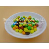 Best Good Taste Crispy Chocolate Cacao Beans Yellow / Red / Blue Colour Jelly Candy wholesale
