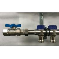 Best Short Flowmeter S S 304 9 zones House Water Manifold for Floor Heating Systems wholesale