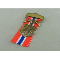 Best Zinc Alloy Military Awards Medals , 3D Die Casting Short Ribbon Medallions wholesale