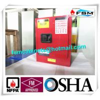 Best Red Flammable Combustible Storage Cabinets Two Vents Single Door wholesale