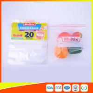 Best Biodegradable Freezer ZipLock Plastic Bags For Supermarket / Household wholesale