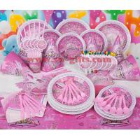 China Fantasy girl theme kids disposable paper cups + plates party pack birthday Party Decoration Set party supplies on sale