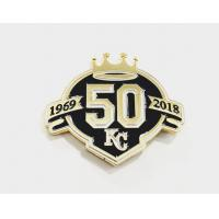 China Custom Memorial badge Enamel Lapel Pin Badges With Stamp Logo For Crafts on sale