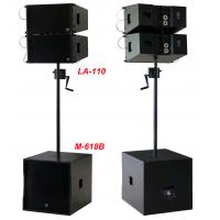 Best 380W Line Array Speaker , With 2x1+10 Neodymium Drivers For Living Event , DJ , Party And Installation wholesale
