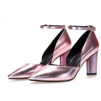 Best Pointed Toe Metallic Leather Pumps , Ankle Strap D Orsay Pump Rubber Outsole wholesale