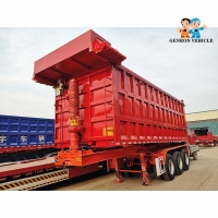 Buy cheap Heavy Duty 60 Tons 3 Axles With Automatic Tarpaulin Dumping Truck Semi Trailer Used To Delivery Sands Or Coal from wholesalers