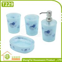 Details of bright color starfish bathroom accessories set for Bathroom accessories sets on sale