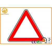 Best Reflective Triangle Road Signs , Railway / Highway Traffic Signs Customized wholesale