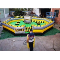 Best Commercial Meltdown Mechanical Inflatable Wipe Out With 0.55mm PVC Tarpaulin wholesale