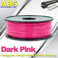 Best Colored ABS 3d Printer Filament 1.75mm /  3.0mm , Dark Pink  ABS Filament wholesale