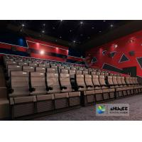 Best 4D Cinema 4D Movie Theatre Equipment With Motion Chair 3 / 4 / 5 Seats A Set wholesale