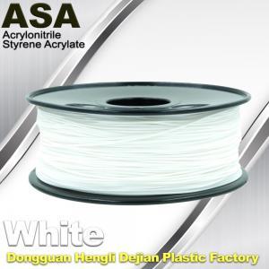 Best ASA 3D Printer Filament Ultraviolet Resist 1.75 / 3.0mm Black White Colors wholesale