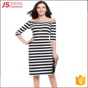 Best JS 20 Top Quality Korean Stripe Bodycon Woman Dress One-Piece For Sale 731 wholesale