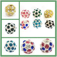 Best Jewellery Accessories Round Mixed Color Crystal Pave Ball Beads Personalized wholesale