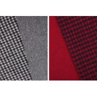 China STOCK Houndstooth 70% Wool 30% Polyester Double Faced Fleece Fabric For Coats on sale