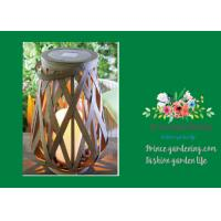 Best Rattan Solar Lantern Cross Weaving , Medium Garden Solar Powered Led Lights wholesale