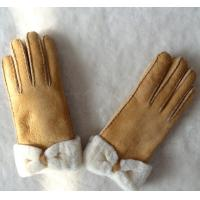 Best Spain merino double face lamb fur gloves butterfly glove real leather glove women gloves wholesale