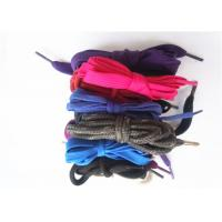 Best Nylon Waxed Flat Shoe Laces with Plastic Tips , High Tenacity wholesale