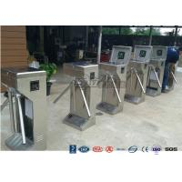 Cheap Stainless Steel Bi - Directional Turnstile Security Gates With Fingerprint Ticketing System for sale