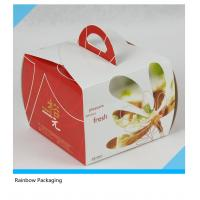 Best Luxury Cake Paper Box Packaging With Transparent Window And Handle wholesale