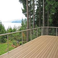 Cheap Outdoor Stainless Steel Wire Balustrade / Railing for Balcony for sale