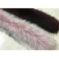 Best 80*20cm Detachable Real Fur Collar For Woman Natural And Dyed Color wholesale