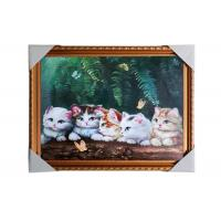 Best Love Cat Image Lenticular 3d Pictures Decoration Craft Modern PS Frame For House wholesale