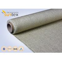 Best 800C Vermiculite Coated High Temperature Fiberglass Cloth Heavy Duty Welding Protection wholesale