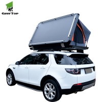 Best Aluminum Shell PU Coated 300G Canvas Car Rooftop Tents For Camping wholesale