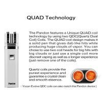 Best Best Portable QUAD Wax Vaporizer Pen Micro USB Oil Vaping Pen outdoor pocket SIZE wholesale