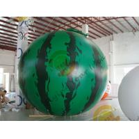 Best 4m diameter watermelon Fruit Shaped Balloons Rainproof / Fireproof wholesale