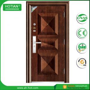 Best new design steel single main door design wrought iron grill door wholesale
