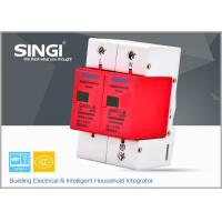 Best Solar / DC lightning protection Surge Protector Device with 2 pole red frame wholesale
