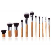 Best Handmade Face Bamboo Makeup Brushes Natural  Bristle With Hot Stamping Logo wholesale