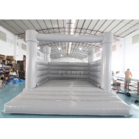 Best 0.55mm PVC Inflatable White Wedding Jumper Bouncy Castle / Commercial White Castle Inflatable Bounce House wholesale