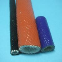 Best High Temperature Fiberglass Sleeving , Silicone Cable Sleeve wholesale
