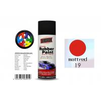 Buy cheap Good Hardness Rubber Coat Spray Paint  Matt Red Color APK-8201-19 from wholesalers