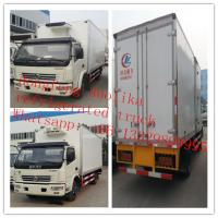 Quality 7tons 4*2 6wheels Dongfeng 120hp freezer van truck for sale, best price dongfeng LHD 5-7tons cold room truck for sale wholesale