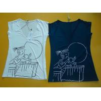 Best Casual Womens Fashion Tops V Neck Short Sleeve T Shirt Ladiess Modal Tops wholesale
