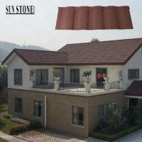 China China cheapest stone coated metal roofing corrugated sheet roman travertine tile on sale