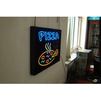 China 2012 advertising products red / white / blue LED neon sign PIZZA with CE approval on sale