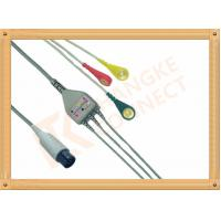Best Generic AAMI 6 Pin ECG Patient Cable 3 Leads Snap IEC For Abbott Medical wholesale